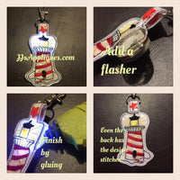 Flashing Snap On Lighthouse Reversible Key Fob
