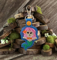 Snap On Mermaid Key Fob