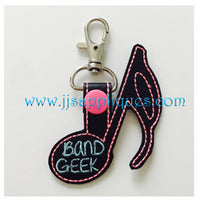 Snap On Band Geek Key Fob