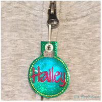 Flashing Christmas Ornament Zipper Pull
