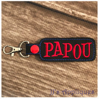 Snap On Papou Key Fob