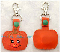 Flashing Snap On Pumpkin Key Fob
