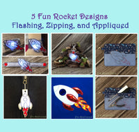 Rocket Set of 5 Designs