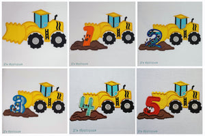 Dozer Scraper Truck Set of 6