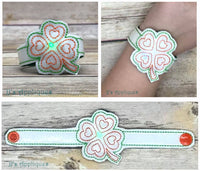 Flashing Shamrock Love Bracelet