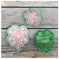 Flashing Shamrock Love Feltie