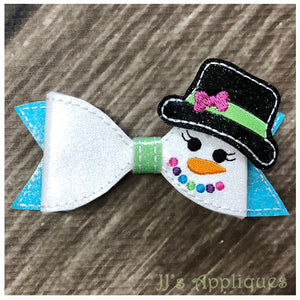 Snowgirl Loop Bow