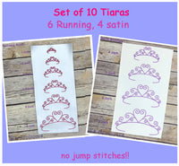 Tiara - Set of 10
