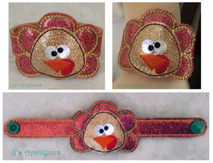 Flashing Turkey Face Applique Bracelet