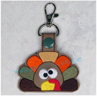 Snap On Turkey Face Key Fob
