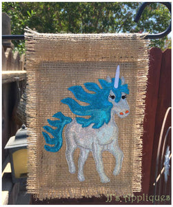 Unicorn Garden Flag
