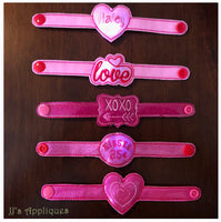 Valentine Set of 5 Flashing Bracelets