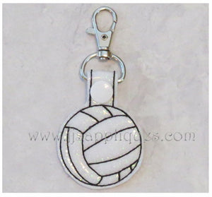 Snap On Volleyball Key Fob