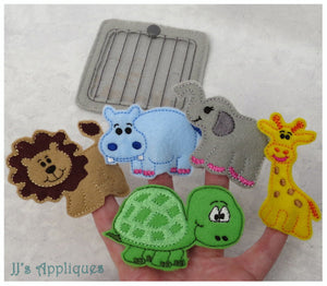 Zoo Animals Finger Puppet Set