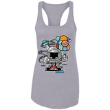 Gift From Outer Space Ladies Racerback Tank