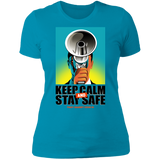 KEEP CALM AND STAY SAFE Boyfriend T-Shirt