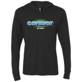 COVIDIOT Triblend LS Hooded T-Shirt