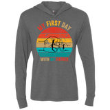Fist Bump Father And Son Triblend LS Hooded T-Shirt
