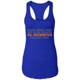 Black Owned Does Not Mean Cheaper Or Discounted Unlearn That - 1 Ladies Racerback Tank