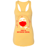 DISTANCIA SOCIAL Ladies Racerback Tank