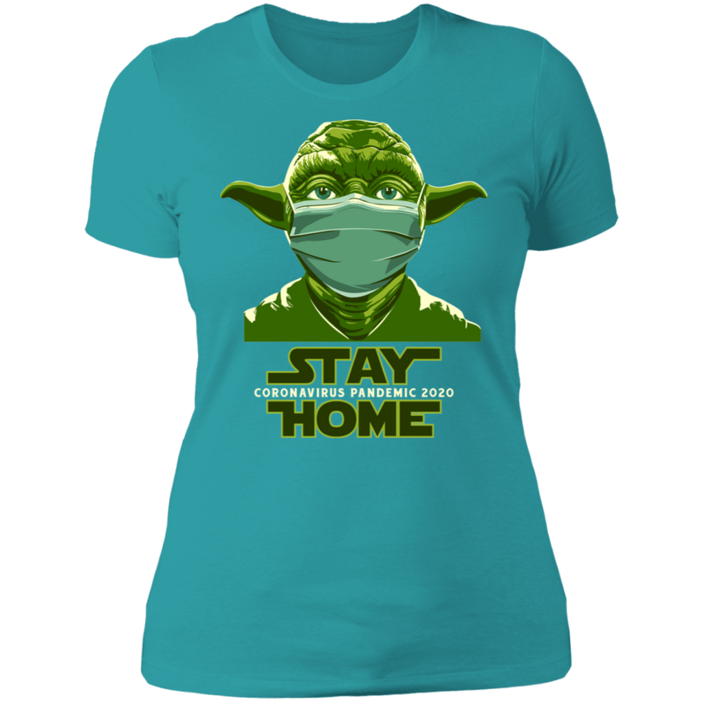 STAY HOME YODA Boyfriend T-Shirt