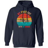 Fist Bump Father And Son Pullover Hoodie
