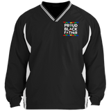 Proud Black Father Proud Father Tipped V-Neck Windshirt