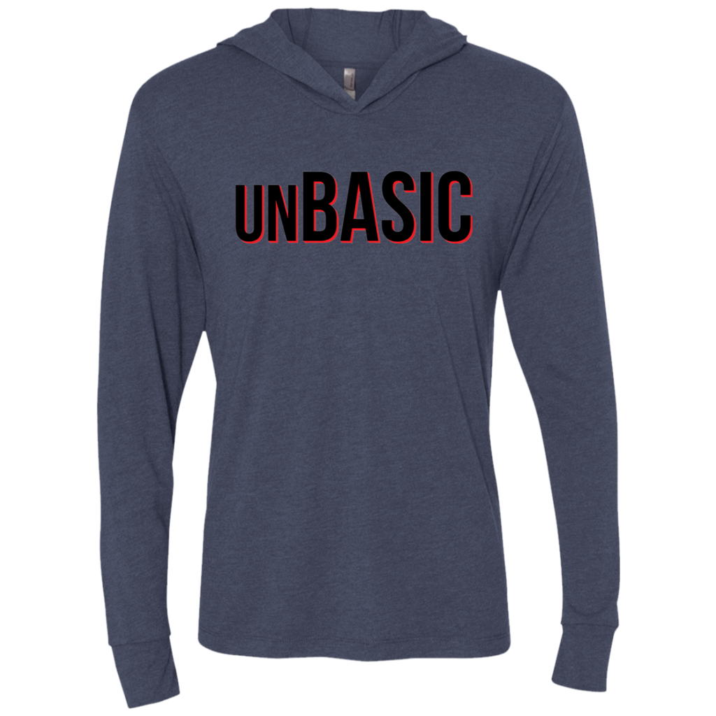unBASIC Red Triblend LS Hooded T-Shirt