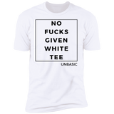 No Fucks Given White Tee Premium Short Sleeve T-Shirt