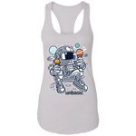 Astronaut Ice Cream Ladies Racerback Tank