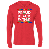 Proud Black Father Triblend LS Hooded T-Shirt
