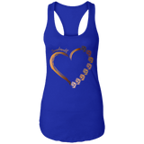 Fist Heart Expression - Black Lives Matter Ladies Racerback Tank