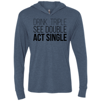 Act Single Triblend LS Hooded T-Shirt
