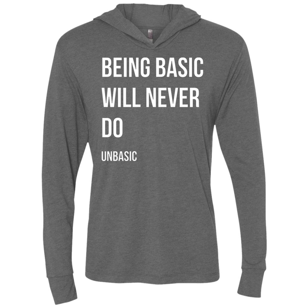 Being Basic Triblend LS Hooded T-Shirt