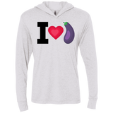 Eggplant Triblend LS Hooded T-Shirt