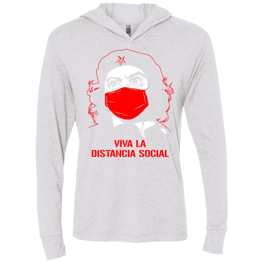 DISTANCIA SOCIAL Triblend LS Hooded T-Shirt