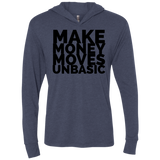 Make Money Moves Triblend LS Hooded T-Shirt