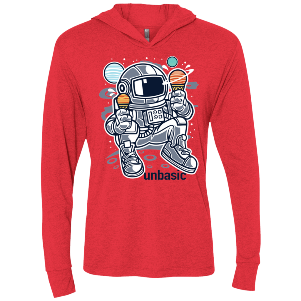 Astronaut Ice Cream Triblend LS Hooded T-Shirt