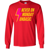 Never on a Monday Youth LS T-Shirt