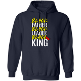 Black Father Black Leader Black King - 2 Pullover Hoodie