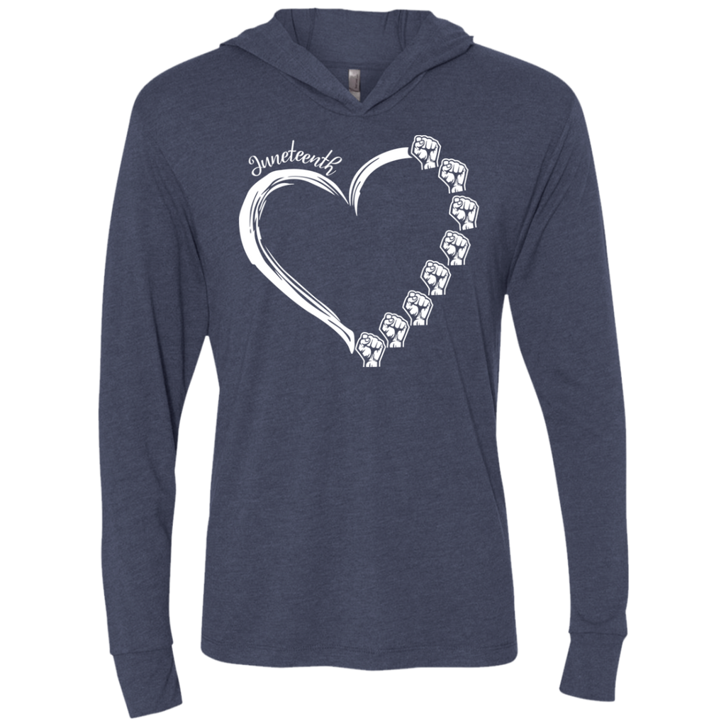 Fist Heart Expression - Black Lives Matter Triblend LS Hooded T-Shirt