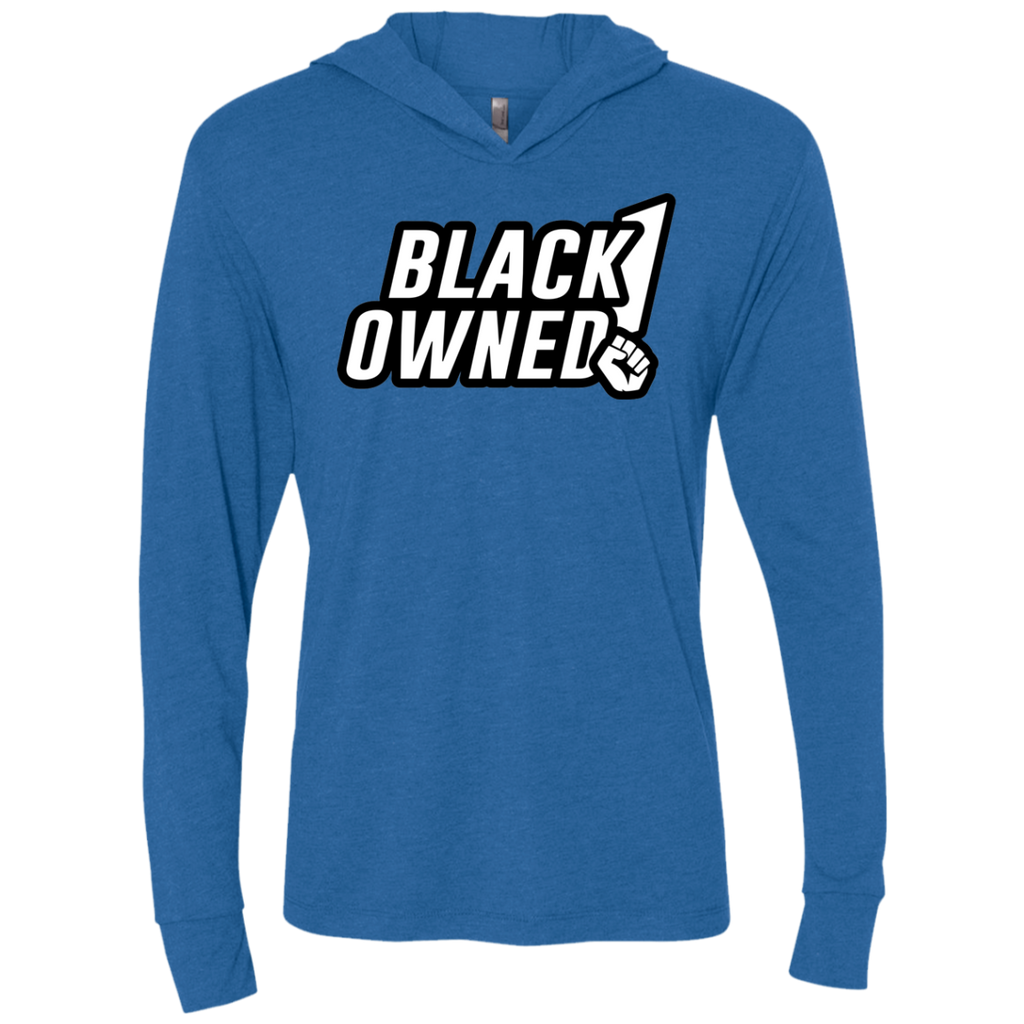 Black Owned Triblend LS Hooded T-Shirt