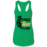 Stronger Then Yesterday Ladies Racerback Tank