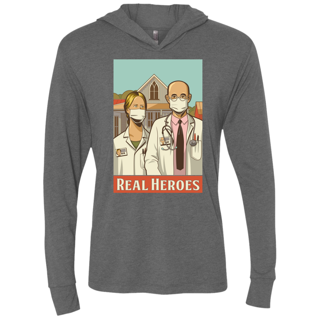 REAL HEROES Triblend LS Hooded T-Shirt