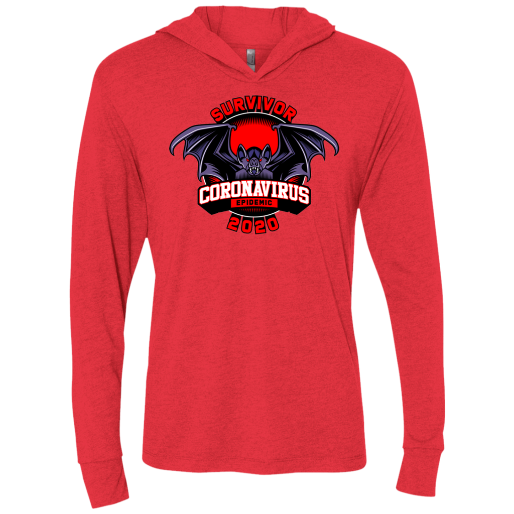 SURVIVOR CORONA VIRUS Triblend LS Hooded T-Shirt