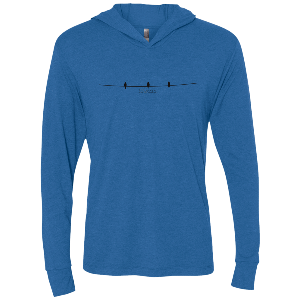 Birds on a Wire Triblend LS Hooded T-Shirt
