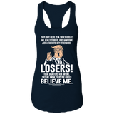 This Guy Here Is A Truly Great Dad Ladies Racerback Tank