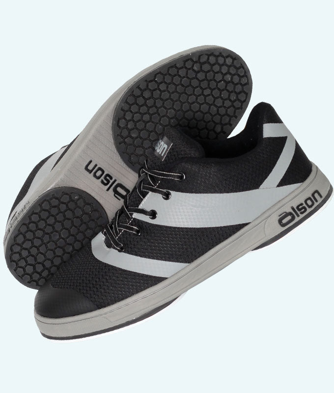 "Men's CrossKicks Black/Grey 1/8"" Flex Perimeter (RH)"