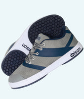 Men's CrossKicks Grey/Navy -Double Gripper