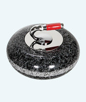 "Miniature Granite Curling Rock 3.5"" diameter"